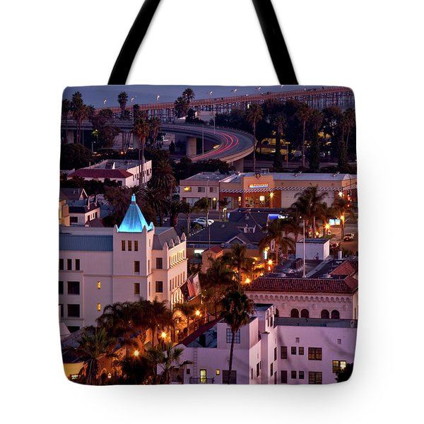Tote Bag featuring the photograph California Street At Ventura California by John A Rodriguez