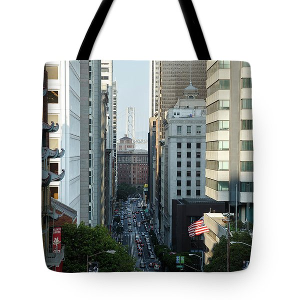 California Street San Francisco Tote Bag