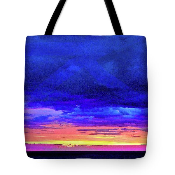 Tote Bag featuring the painting California Sunrise by Joan Reese