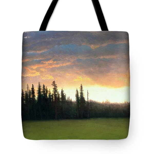 California Sunset Tote Bag by Albert Bierstadt