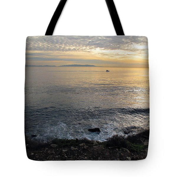 Tote Bag featuring the photograph California Sunset by Joan  Minchak