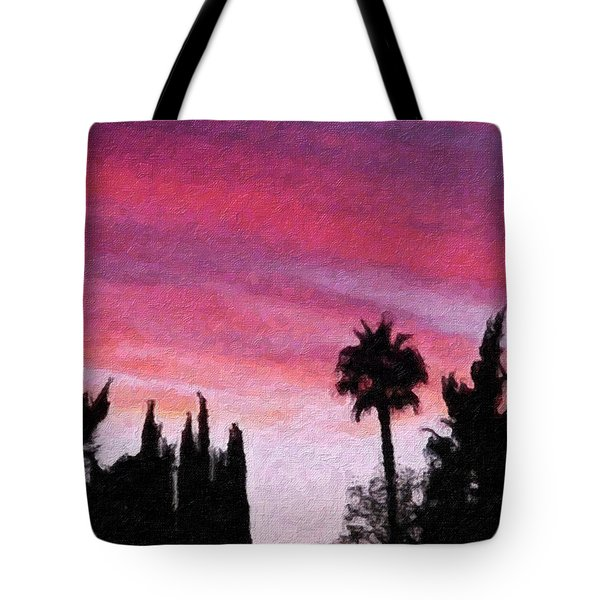 California Sunset Painting 2 Tote Bag by Teresa Mucha