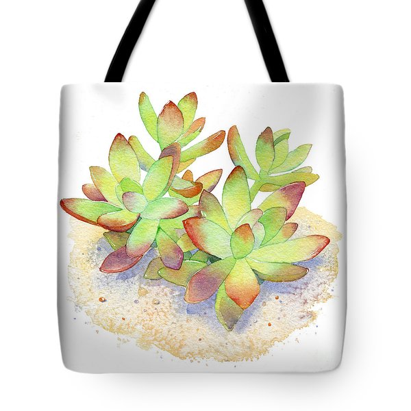 California Sunset Succulent Tote Bag