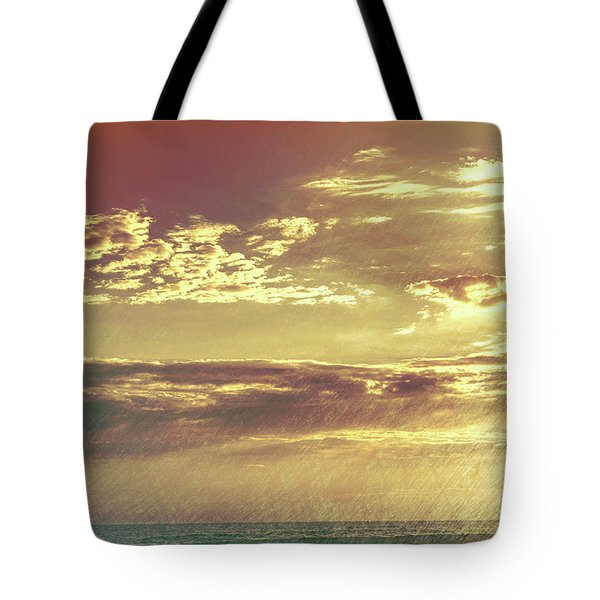 California Sunset Surfer Tote Bag
