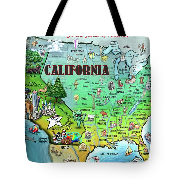 California Usa Tote Bag