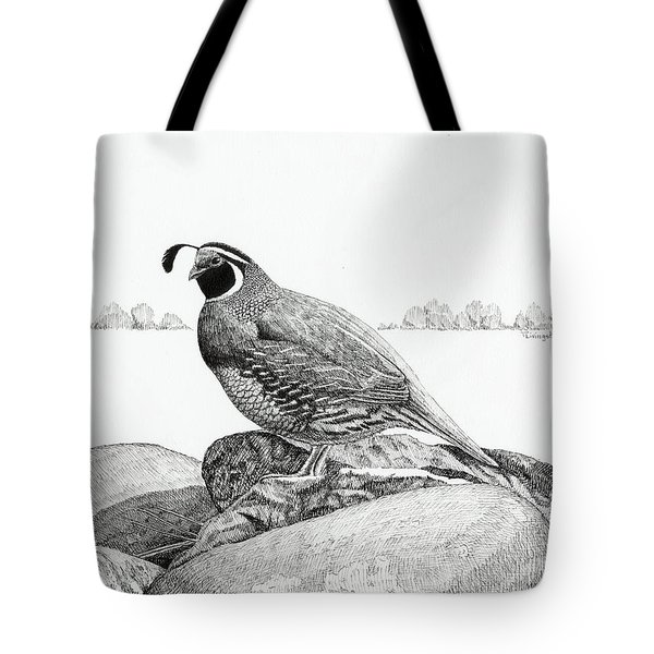 California Valley Quail Tote Bag