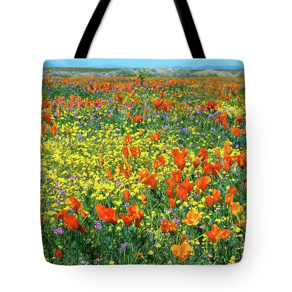 Tote Bag featuring the photograph California Wildflower Super Bloom by Ram Vasudev