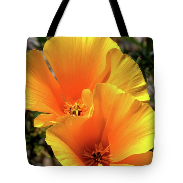 Tote Bag featuring the photograph Californian Poppy by Baggieoldboy