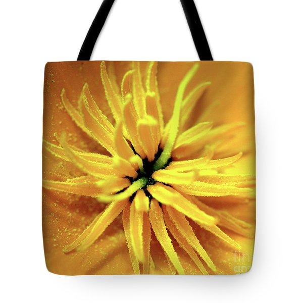 Californian Poppy Macro Tote Bag