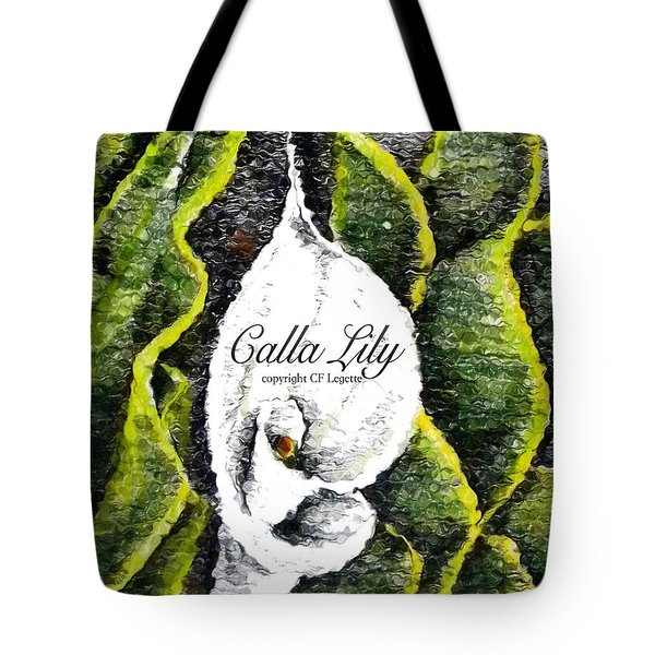 Call Lily  Tote Bag by C F Legette