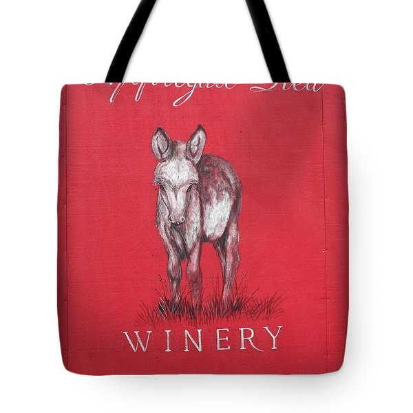 Tote Bag featuring the photograph Call Me Applegate Red by Marie Neder