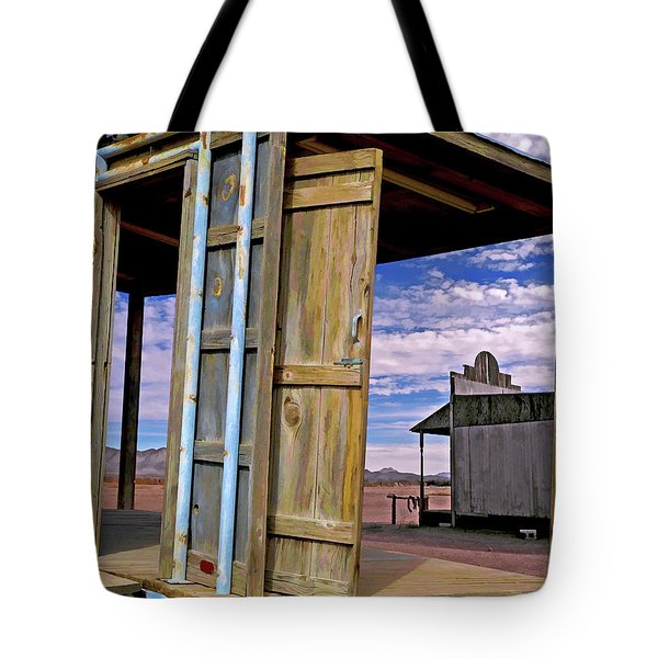Tote Bag featuring the mixed media Call Of The Lost Saloon 3  by Lynda Lehmann