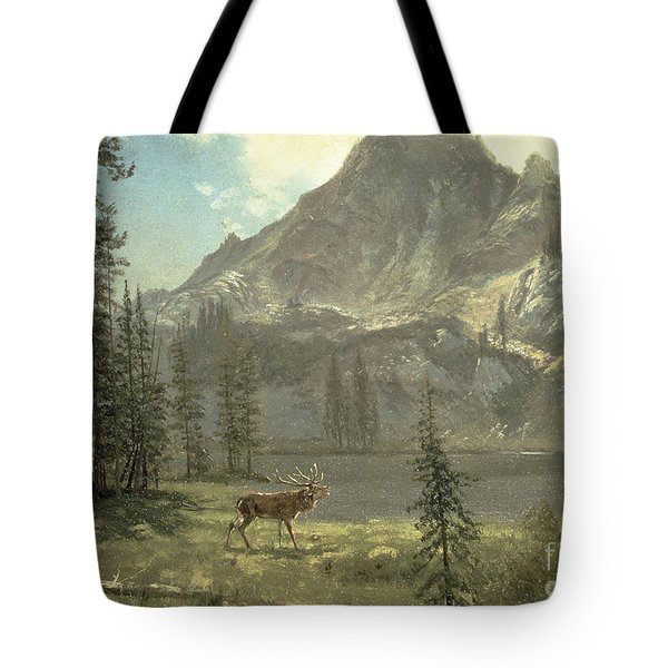 Call Of The Wild Tote Bag by Albert Bierstadt