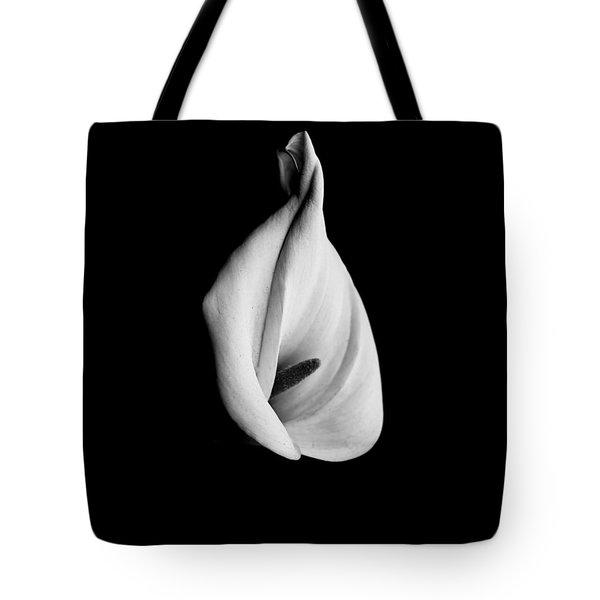 Calla Challenge In Black And White Tote Bag