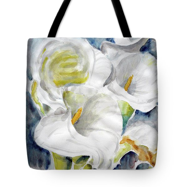 Tote Bag featuring the painting Calla by Jasna Dragun