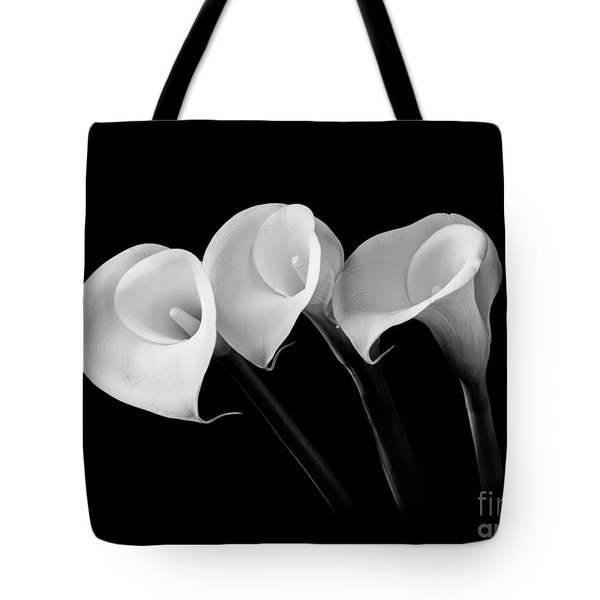 Calla Lilies - Black And White Tote Bag