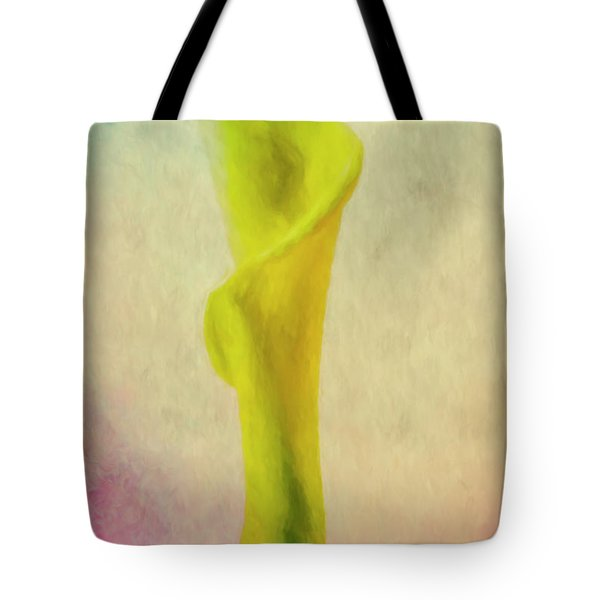 Tote Bag featuring the photograph Calla Lilly Echo Flower by David Haskett