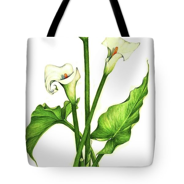 Tote Bag featuring the painting Calla Lilly by Heidi Kriel