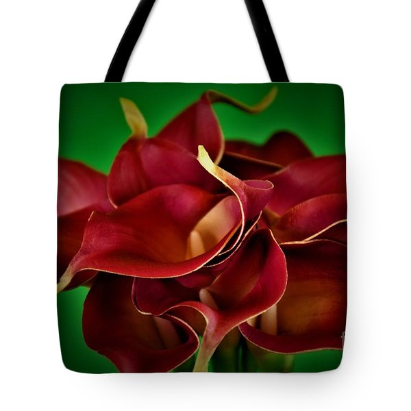 Calla Lily Bouquet Tote Bag by Ray Shrewsberry