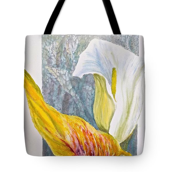 Tote Bag featuring the painting Calla Lily by Carolyn Rosenberger