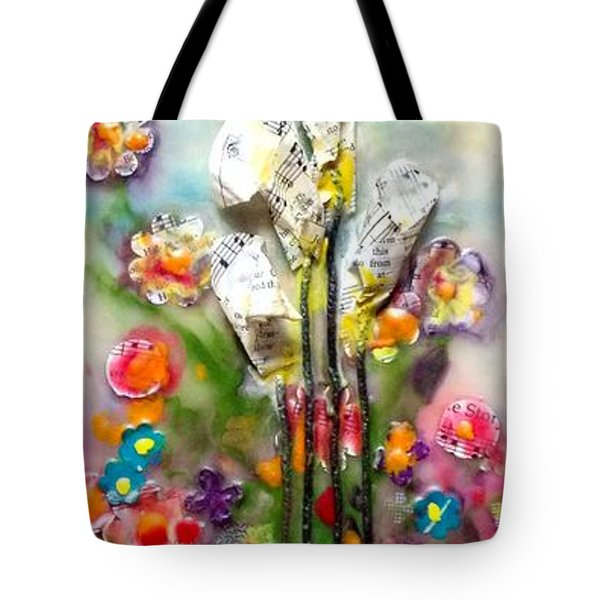Calla Lily Dance Tote Bag
