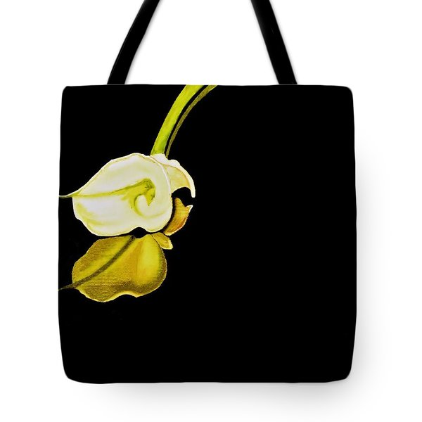 Calla Lily Reflection Tote Bag