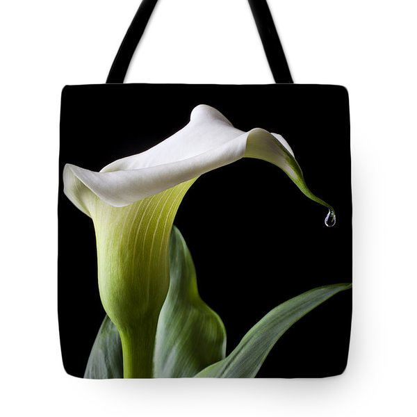 Calla Lily With Drip Tote Bag