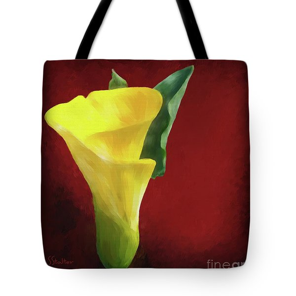 Calla Lily - Yellow Tote Bag by Shirley Stalter