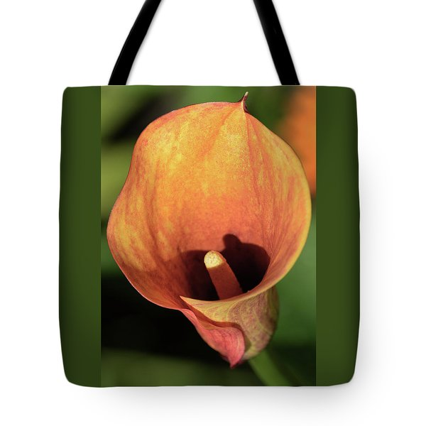 Tote Bag featuring the photograph Calla Sunbathing. by Terence Davis