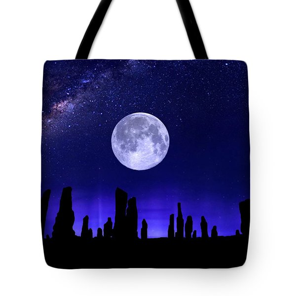 Callanish Stones Under The Supermoon.  Tote Bag