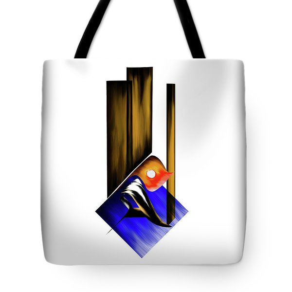 Tote Bag featuring the painting Calligraphy 102 1 by Mawra Tahreem