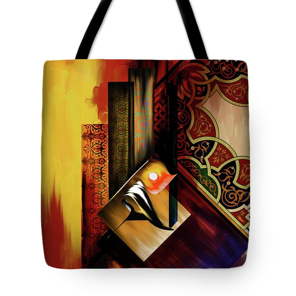 Tote Bag featuring the painting Calligraphy 102  2 1 by Mawra Tahreem