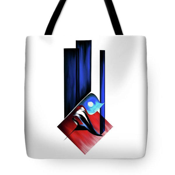 Tote Bag featuring the painting Calligraphy 102 2 by Mawra Tahreem