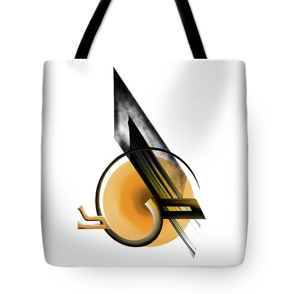 Tote Bag featuring the painting Calligraphy 103 1 by Mawra Tahreem