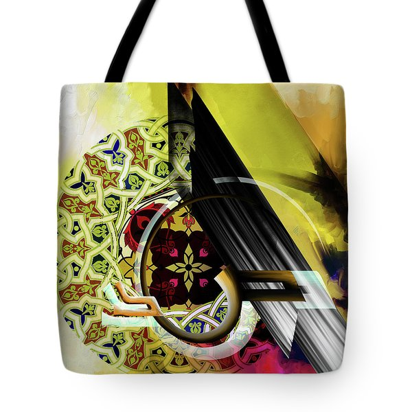Tote Bag featuring the painting Calligraphy 103 2 1 by Mawra Tahreem