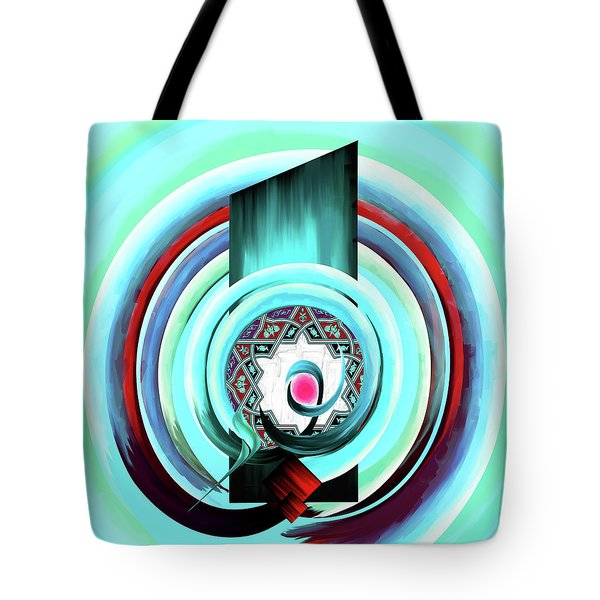 Tote Bag featuring the painting Calligraphy 104 4 by Mawra Tahreem
