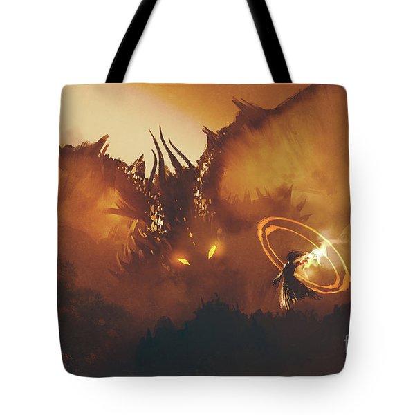 Calling Of The Dragon Tote Bag