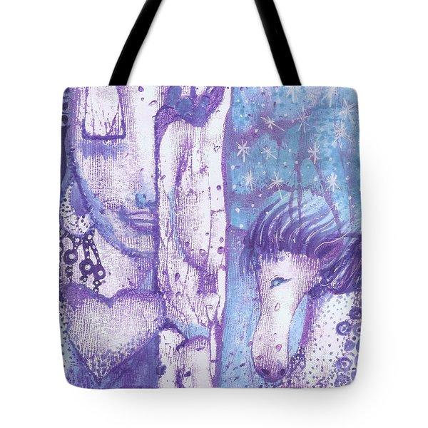 Calling Upon The Spirit Animals Tote Bag