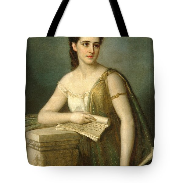 Tote Bag featuring the painting Calliope by Joseph Fagnani