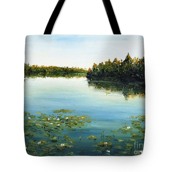 Tote Bag featuring the painting Calm by Arturas Slapsys