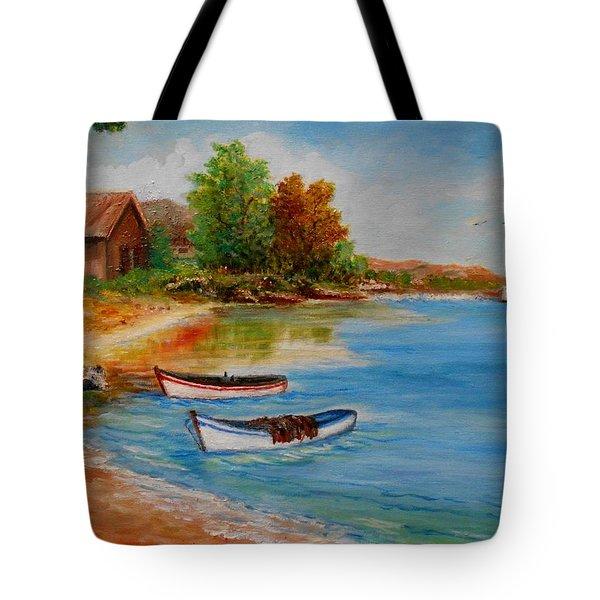 Calm  Autumn Nature Tote Bag