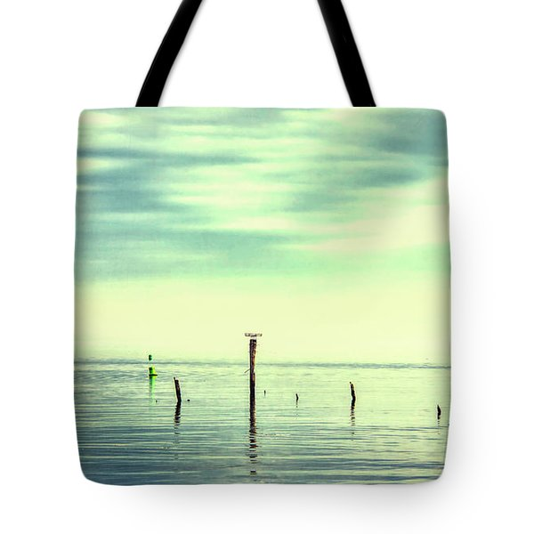 Tote Bag featuring the photograph Calm Bayshore Morning N0 1 by Gary Slawsky