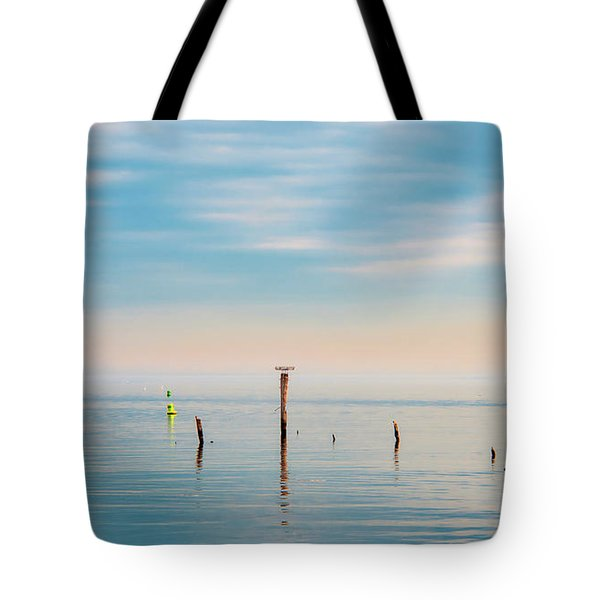 Tote Bag featuring the photograph Calm Bayshore Morning N0 3 by Gary Slawsky