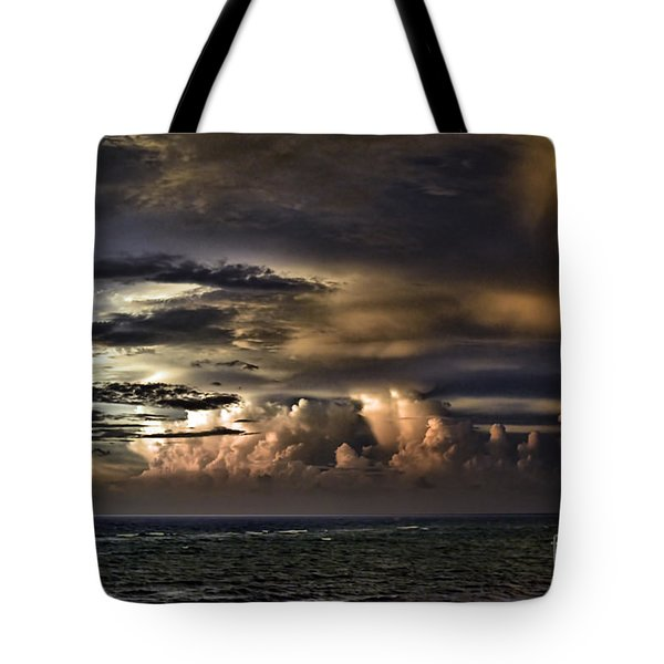 Tote Bag featuring the photograph Calm Before Storm by Judy Wolinsky