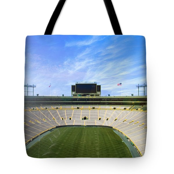 Tote Bag featuring the photograph Calm Before The Game by Joel Witmeyer