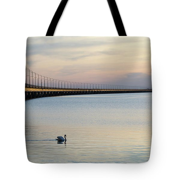 Calm Evening By The Bridge Tote Bag