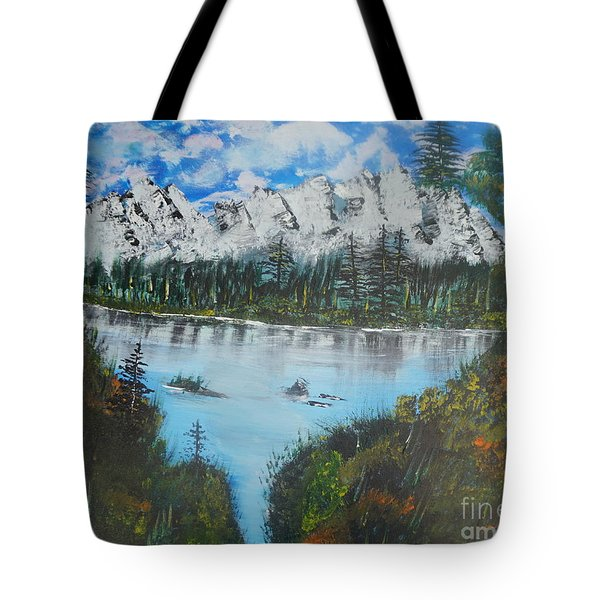 Calm Lake Tote Bag