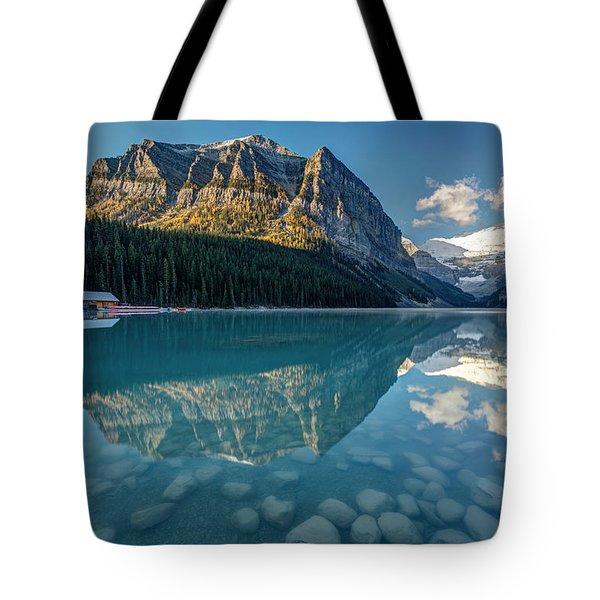 Calm Lake Louise Reflection Tote Bag