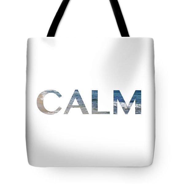 Calm Letter Art Tote Bag by Saya Studios