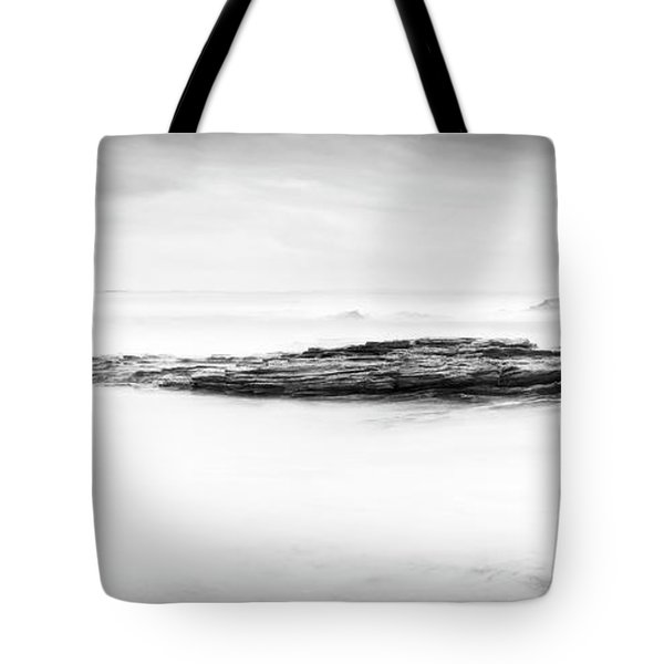 Tote Bag featuring the photograph Calm Ocean Landscape Black And White by Tim Hester